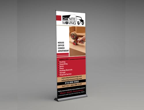 DayNite Moving Banner Stand Design Print Graphic Creative