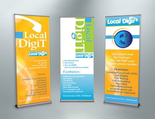 Local Digit Banner Stand Graphic Creative Design