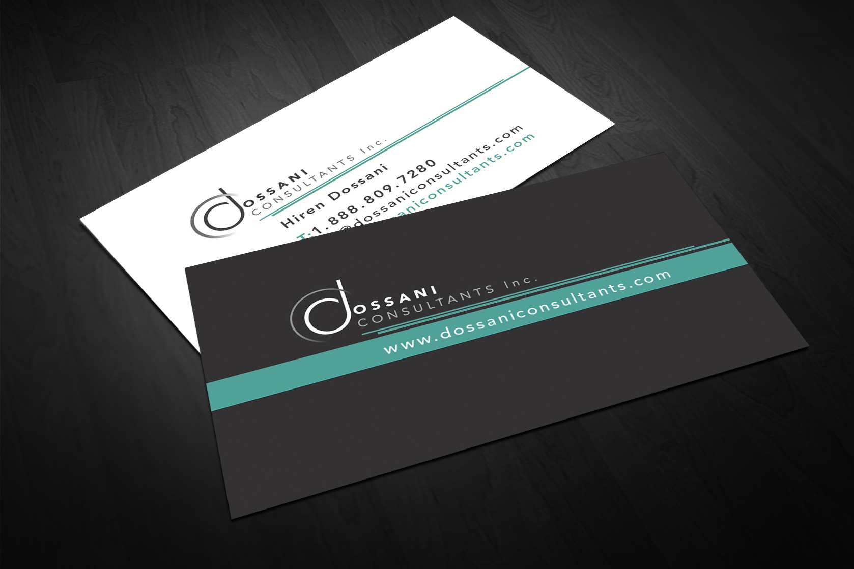 Dossani Consultant BusinessCard Design – Lines & Beyond