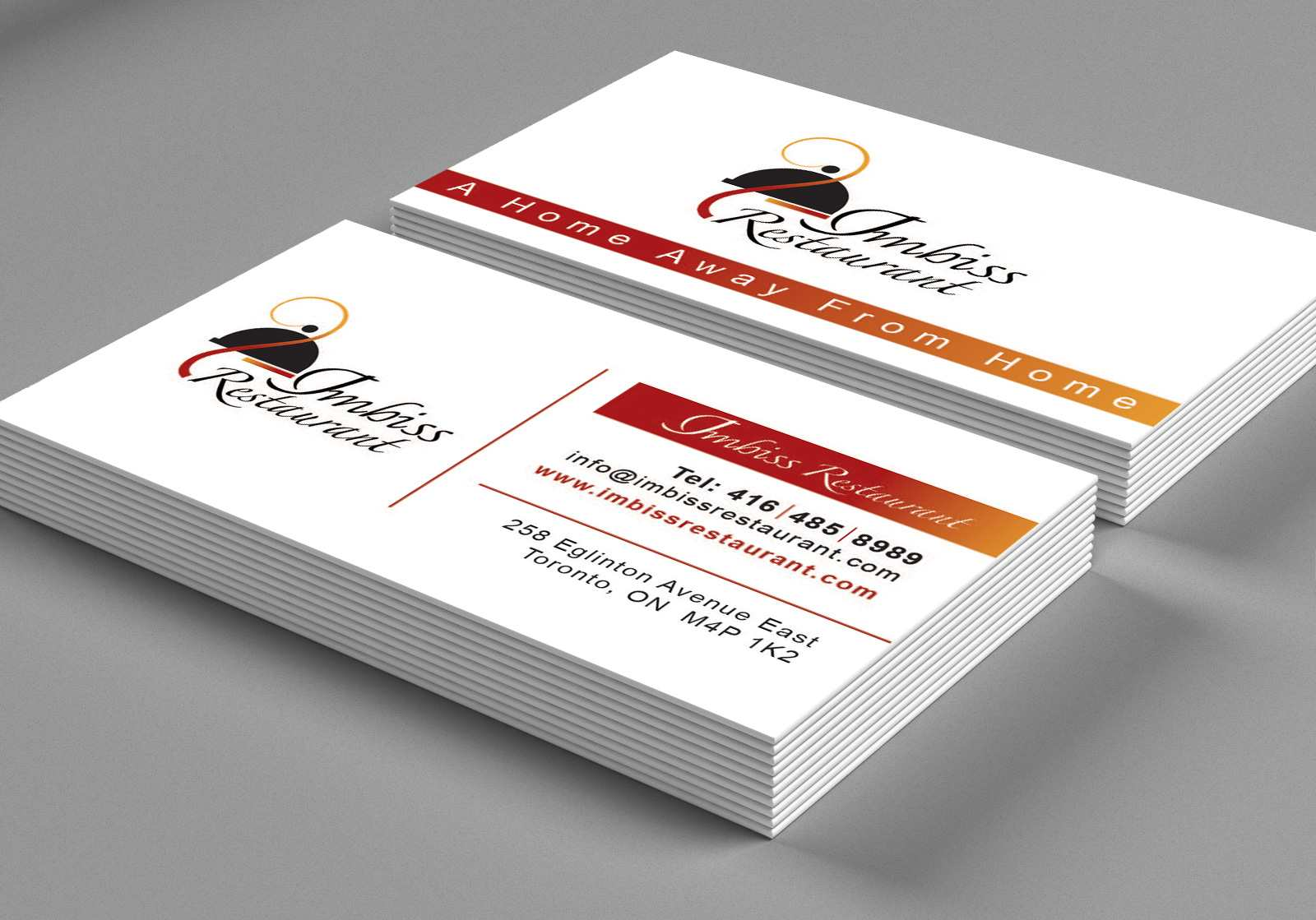 IMBISS Restaurant BusinessCard Design – Lines & Beyond