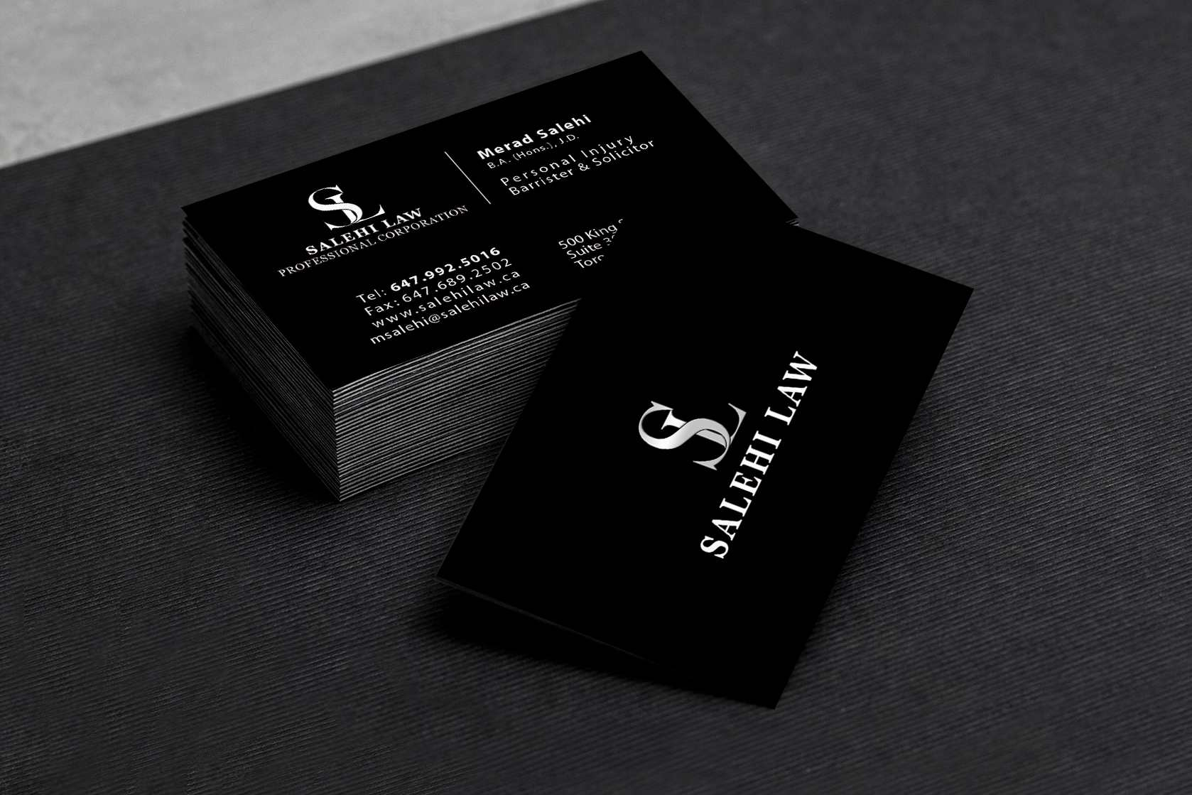Salehi Law BusinessCard Design – Lines & Beyond