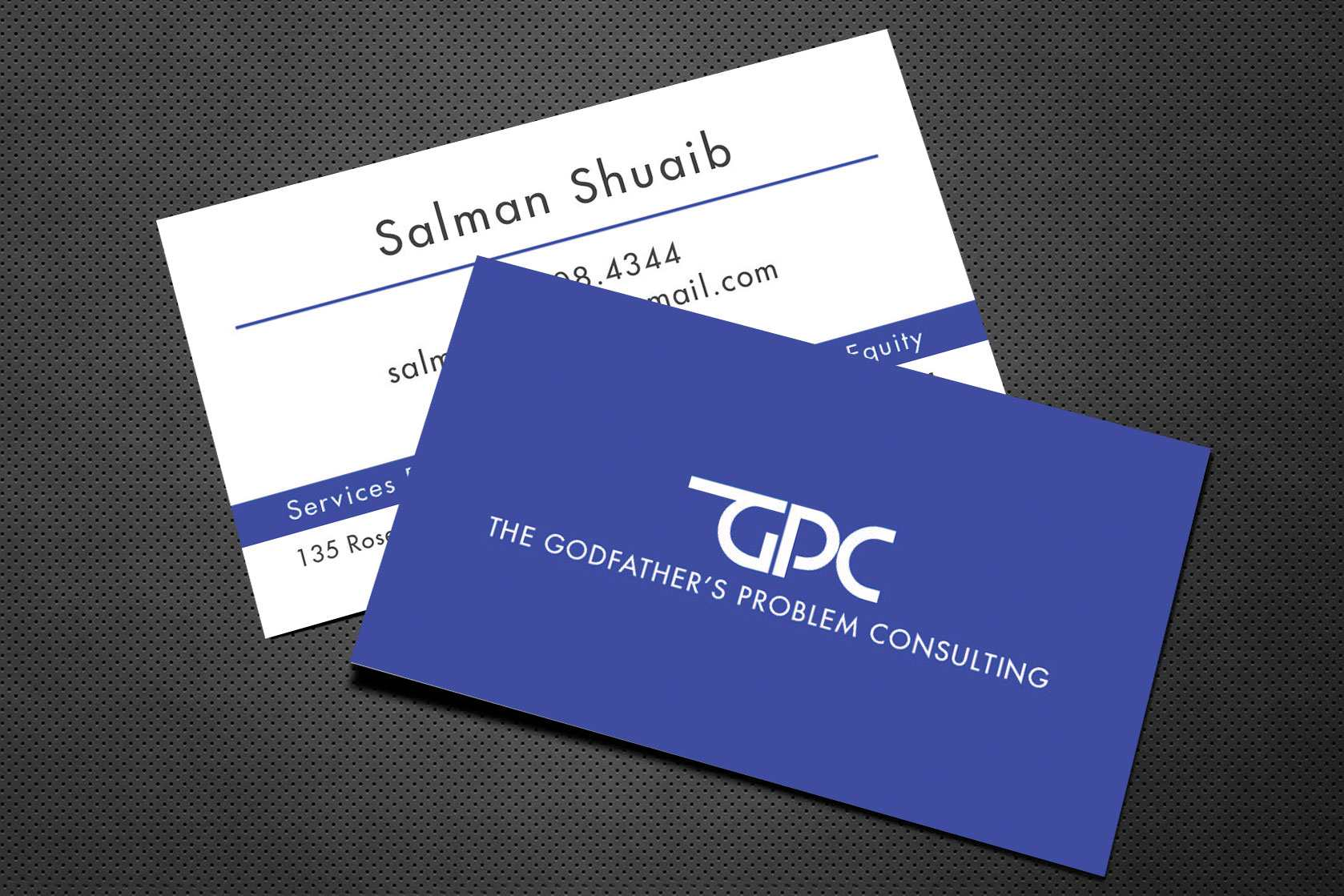 The Godfathers Problem Consulting BusinessCard Design – Lines & Beyond