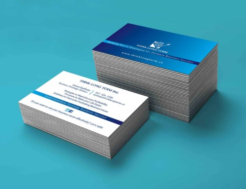 Think Long Term BusinessCard  Design